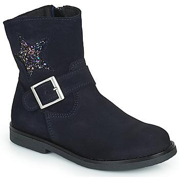 Boty Dívčí Kotníkové boty Citrouille et Compagnie POUDRE Tmavě modrá