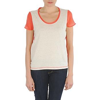 Textil Ženy Trička s krátkým rukávem Eleven Paris EDMEE Béžová / Oranžová