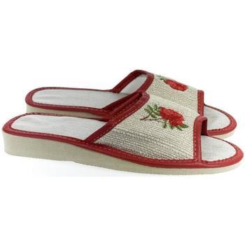 Boty Ženy Papuče John-C Dámske ľanové béžové papuče ROSIE béžová