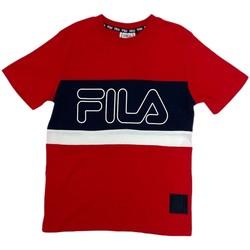 Textil Děti Trička s krátkým rukávem Fila 688138 Červené