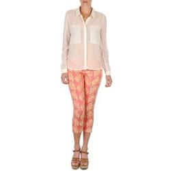 Textil Ženy Tříčtvrteční kalhoty Manoush PANTALON GIPSY JEANS Růžová