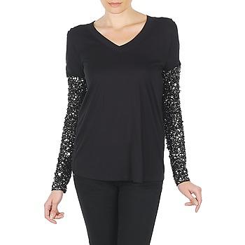 Textil Ženy Trička s dlouhými rukávy Manoush TSHIRT ML INDIAN BASIC Černá