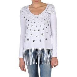 Textil Ženy Trička s dlouhými rukávy Manoush TUNIQUE LIANE Bílá