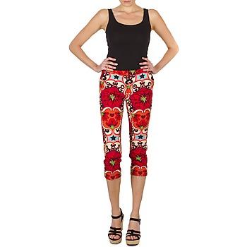 Textil Ženy Tříčtvrteční kalhoty Manoush PANTALON POPPY Červená