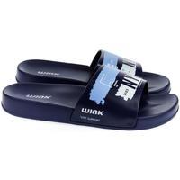 Boty Muži pantofle Wink Pánske modré šľapky  NYC tmavomodrá