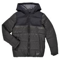 Textil Chlapecké Prošívané bundy Jack & Jones JJVENUS HEAVY PUFFER Černá