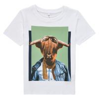 Textil Chlapecké Trička s krátkým rukávem Name it NMMKYLAN SS TOP Bílá