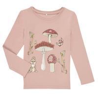 Textil Dívčí Trička s dlouhými rukávy Name it NMFTHUMPER ALFRIDA LS TOP Fialová