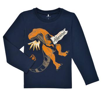 Textil Chlapecké Trička s dlouhými rukávy Name it NMMLUKASO LS TOP Tmavě modrá