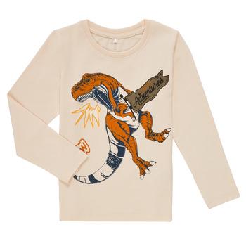 Textil Chlapecké Trička s dlouhými rukávy Name it NMMLUKASO LS TOP Bílá