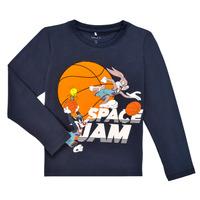 Textil Chlapecké Trička s dlouhými rukávy Name it NMMSPACEJAM ARNE LS TOP Tmavě modrá