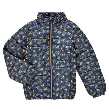 Textil Dívčí Prošívané bundy Name it NKFMENE FLOWER JACKET Tmavě modrá