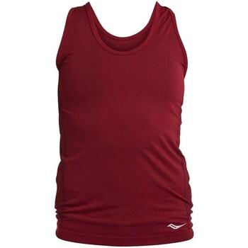Textil Ženy Tílka / Trička bez rukávů  Saucony SAW800099 Vínově červené