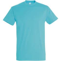 Textil Ženy Trička s krátkým rukávem Sols IMPERIAL camiseta color Azul Atolon Azul