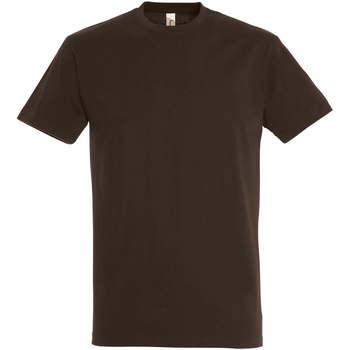 Textil Ženy Trička s krátkým rukávem Sols IMPERIAL camiseta color Chocolate Marrón
