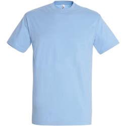 Textil Ženy Trička s krátkým rukávem Sols IMPERIAL camiseta color Azul Cielo Azul