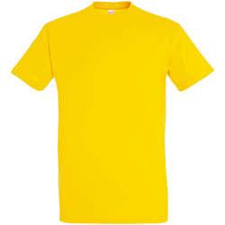 Textil Ženy Trička s krátkým rukávem Sols IMPERIAL camiseta color Amarillo Amarillo