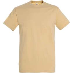 Textil Ženy Trička s krátkým rukávem Sols IMPERIAL camiseta color Arena Beige