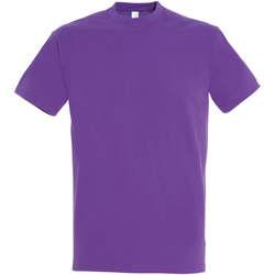 Textil Ženy Trička s krátkým rukávem Sols IMPERIAL camiseta color Morado Claro Violeta