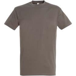 Textil Ženy Trička s krátkým rukávem Sols IMPERIAL camiseta color Zinc Gris