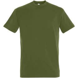 Textil Ženy Trička s krátkým rukávem Sols IMPERIAL camiseta color Caqui Oscuro Kaki