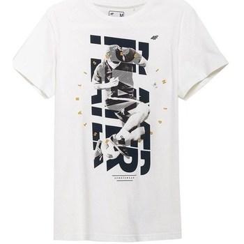 Textil Muži Trička s krátkým rukávem 4F TSM011 Bílé