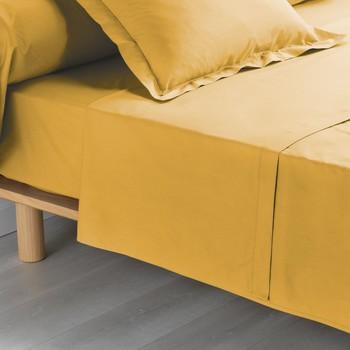 Bydlení Prostěradlo Douceur d intérieur PERCALINE Žlutá