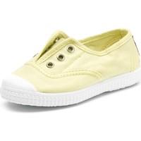 Boty Děti Tenis Cienta Chaussures en toiles bébé  Tintado jaune pastel