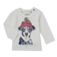 Textil Chlapecké Trička s dlouhými rukávy Ikks AUBERGINE Bílá