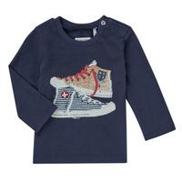 Textil Chlapecké Trička s dlouhými rukávy Ikks AURORE Tmavě modrá