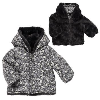 Textil Dívčí Prošívané bundy Ikks CAFE AU LAIT Černá