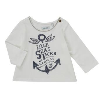Textil Dívčí Trička s dlouhými rukávy Ikks CHOCOLAT Bílá
