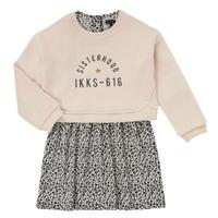 Textil Dívčí Krátké šaty Ikks MENTHE Béžová