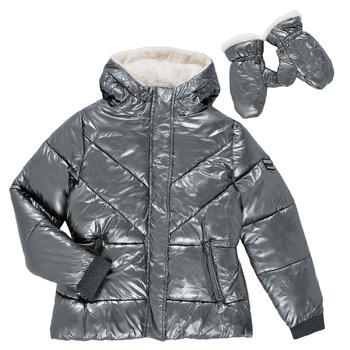 Textil Dívčí Prošívané bundy Ikks OLIVE Stříbřitá