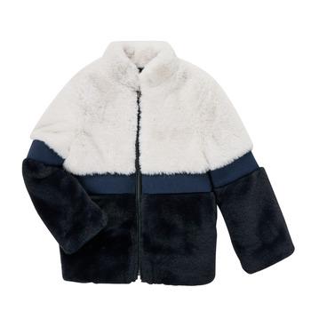 Textil Dívčí Kabáty Ikks PISTACHE Tmavě modrá
