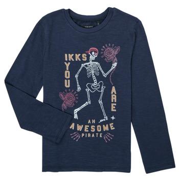 Textil Chlapecké Trička s dlouhými rukávy Ikks PRUNE Tmavě modrá