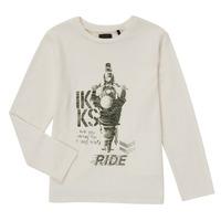 Textil Chlapecké Trička s dlouhými rukávy Ikks CERISE Bílá