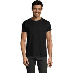 Textil Muži Trička s krátkým rukávem Sols Camiseta IMPERIAL FIT color Negro Negro