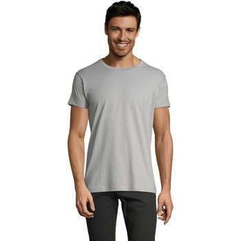 Textil Muži Trička s krátkým rukávem Sols Camiseta IMPERIAL FIT color Gris  puro Gris