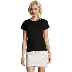 Textil Ženy Trička s krátkým rukávem Sols Camiseta IMPERIAL FIT color Negro Negro