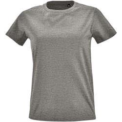 Textil Ženy Trička s krátkým rukávem Sols Camiseta IMPERIAL FIT color Gris mezcla Gris