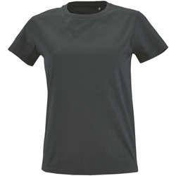 Textil Ženy Trička s krátkým rukávem Sols Camiseta IMPERIAL FIT color Gris oscuro Gris