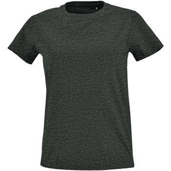 Textil Ženy Trička s krátkým rukávem Sols Camiseta IMPERIAL FIT color Antracita Gris