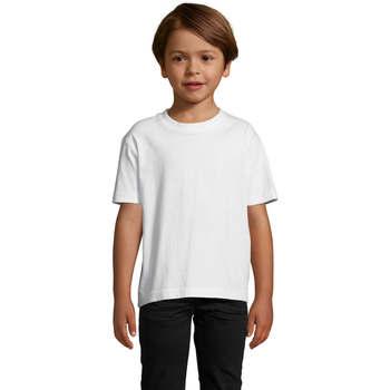 Textil Děti Trička s krátkým rukávem Sols Camista infantil color blanco Blanco