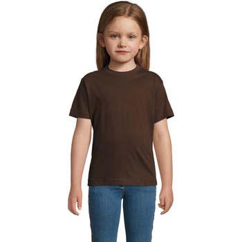 Textil Děti Trička s krátkým rukávem Sols Camista infantil color chocolate Marrón