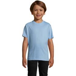 Textil Děti Trička s krátkým rukávem Sols Camista infantil color Azul cielo Azul