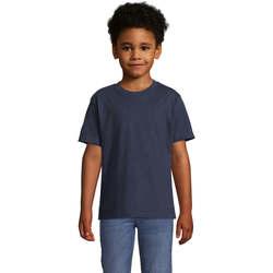 Textil Děti Trička s krátkým rukávem Sols Camista infantil color French Marino Azul
