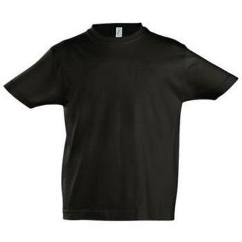 Textil Děti Trička s krátkým rukávem Sols Camista infantil color Negro profundo Negro