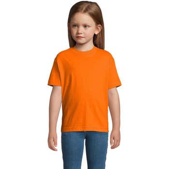 Textil Děti Trička s krátkým rukávem Sols Camista infantil color Naranja Naranja