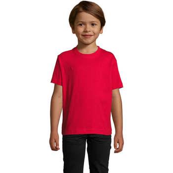Textil Děti Trička s krátkým rukávem Sols Camista infantil color Rojo Rojo